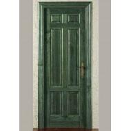 Puerta Madera Maciza 830 ciega verde