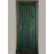 Puerta Madera Maciza 915 ciega verde
