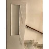 Puerta 1 cristal lacada en blanca con 3 ranuras