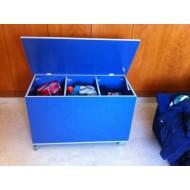 Baul juguetes Melamina Azul