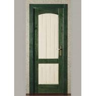 Puerta Madera Maciza Mod. 640 ciega verde